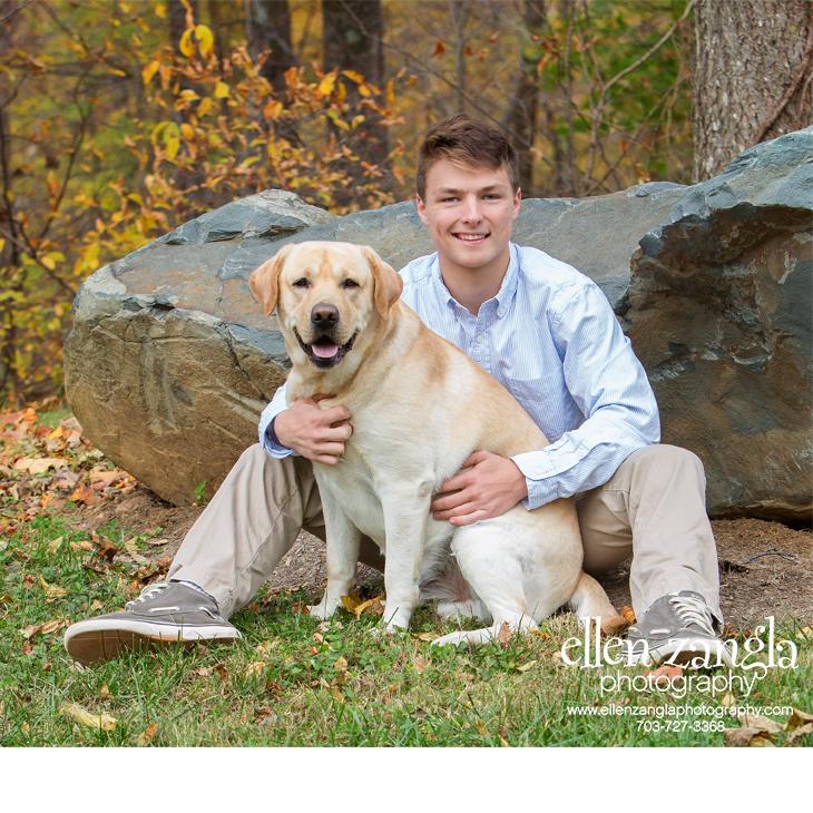Labrador Retriever and his Owner Photo